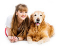Retriever and girl - PhotoDune Item for Sale
