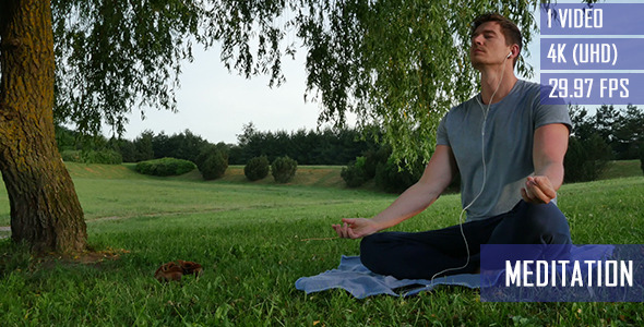 Outdoor Meditation While Listening Music