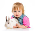 baby with rabbit - PhotoDune Item for Sale