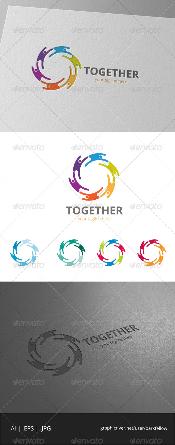 GraphicRiver Together People Logo 8056187