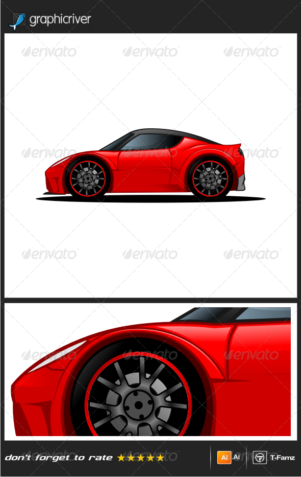 GraphicRiver Sport Car Vector 8056200