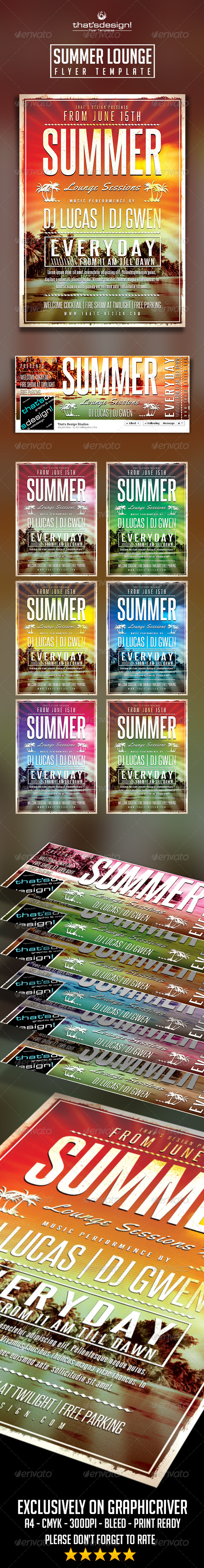 GraphicRiver Summer Lounge Flyer Template V2 8056290