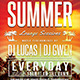Summer Lounge Flyer Template V2 - GraphicRiver Item for Sale