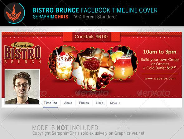 GraphicRiver Bistro Brunch Facebook Timeline Cover Template 8056297