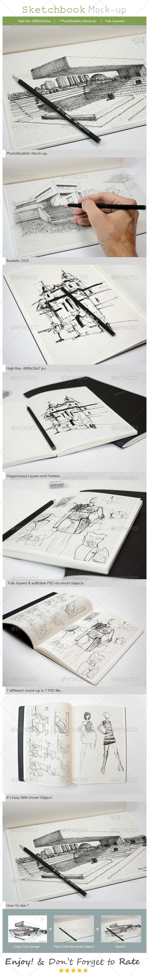GraphicRiver Sketchbook Mockup 8050392