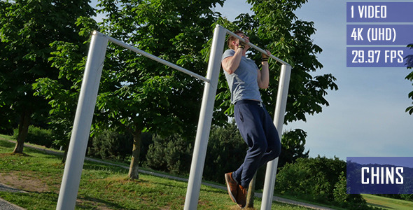 Pull Up Exercise In The City Park
