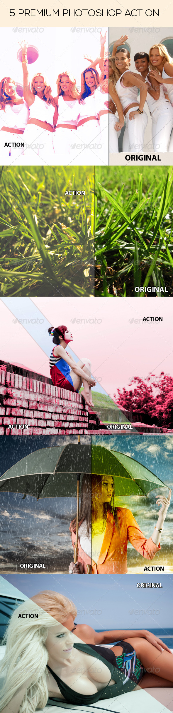 GraphicRiver 5 Premium Photoshop Action 8056412