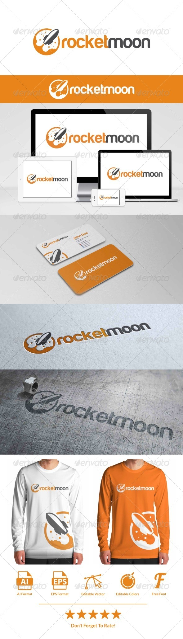 GraphicRiver Rocket Moon Logo 8056415