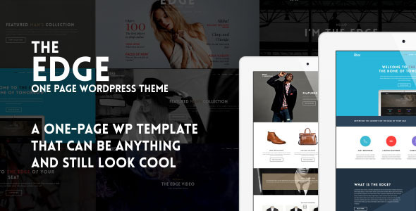 ThemeForest The Edge One Page Multipurpose Wordpress Theme 8056417