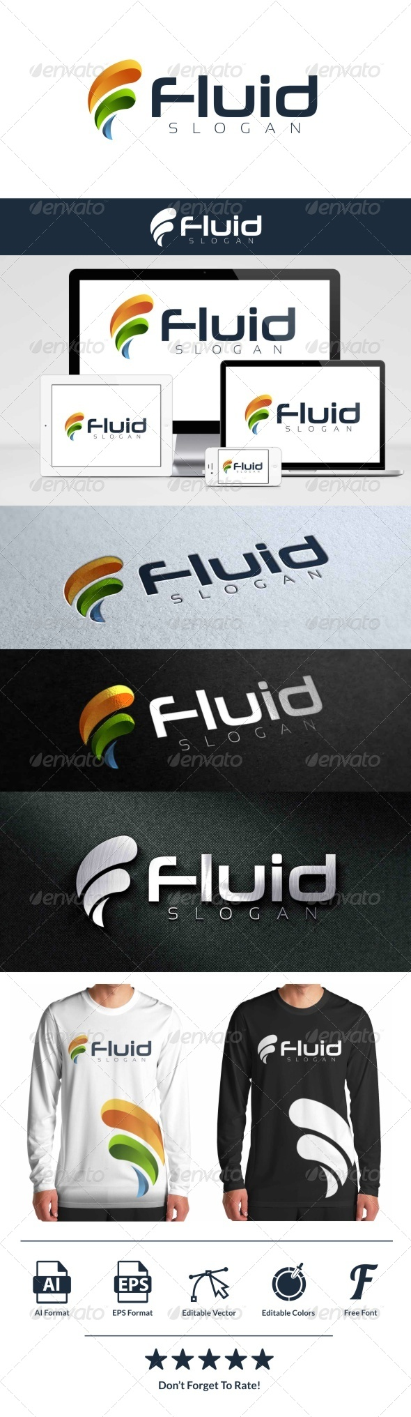 GraphicRiver Fluid Logo 8056418