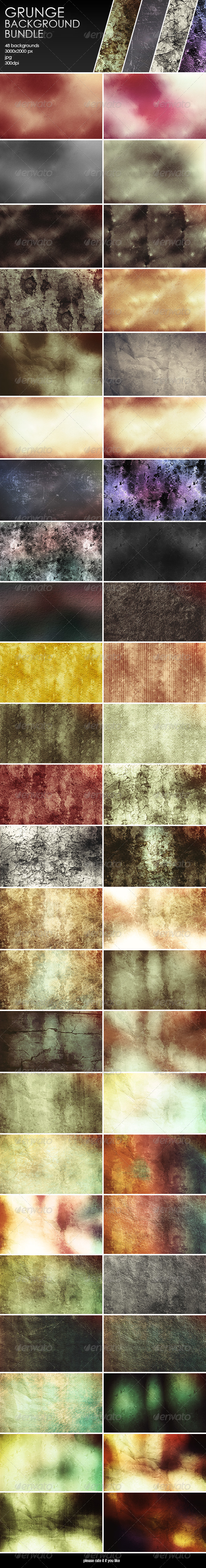GraphicRiver Grunge Backgrounds-Bundle 8056434