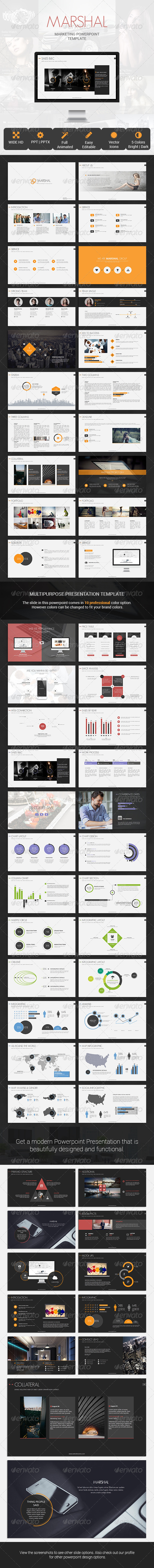 GraphicRiver Marshal Marketing Presentation Template 8008052