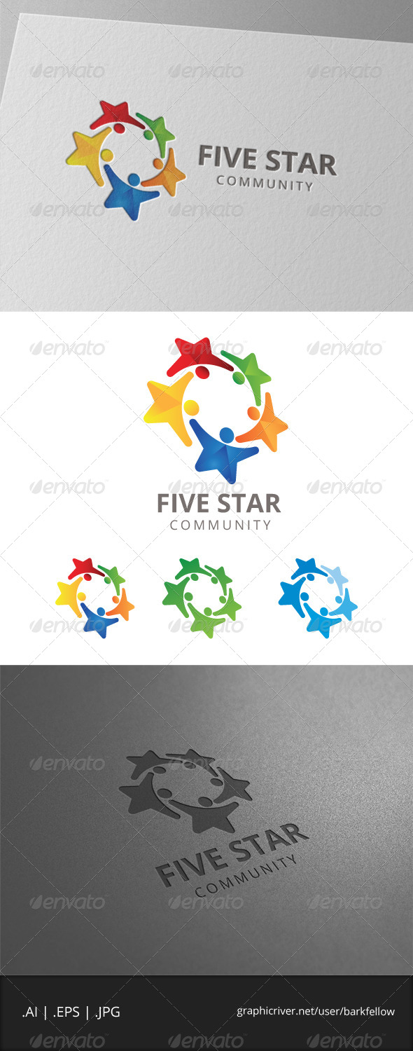 GraphicRiver Five Star Community Logo 8056460