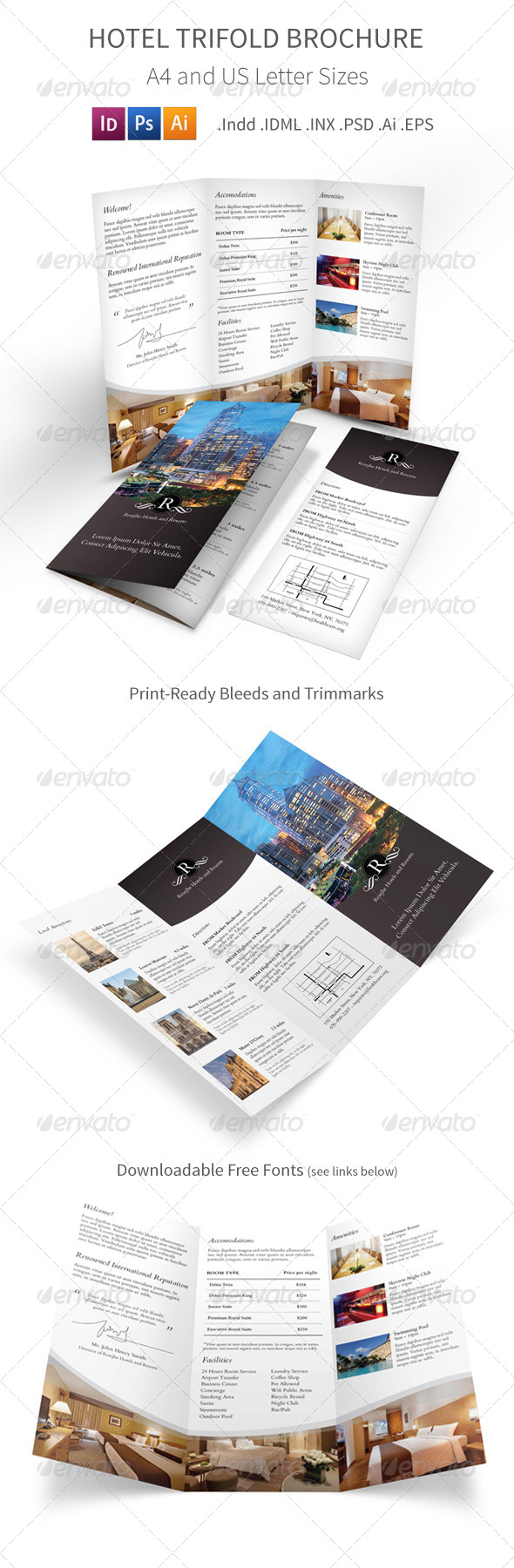 Hotel Trifold Brochure