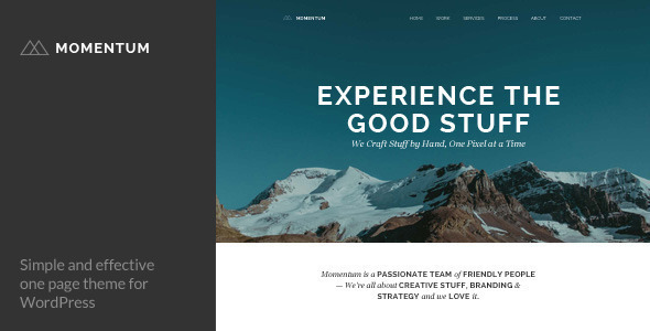 ThemeForest Momentum Simple Creative One Page Theme 8056483