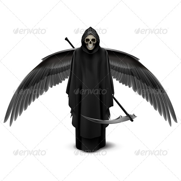 GraphicRiver Two-Winged Angel of Death 8056488