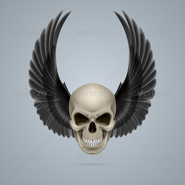 GraphicRiver Evil Skull with Wings Up 8056492