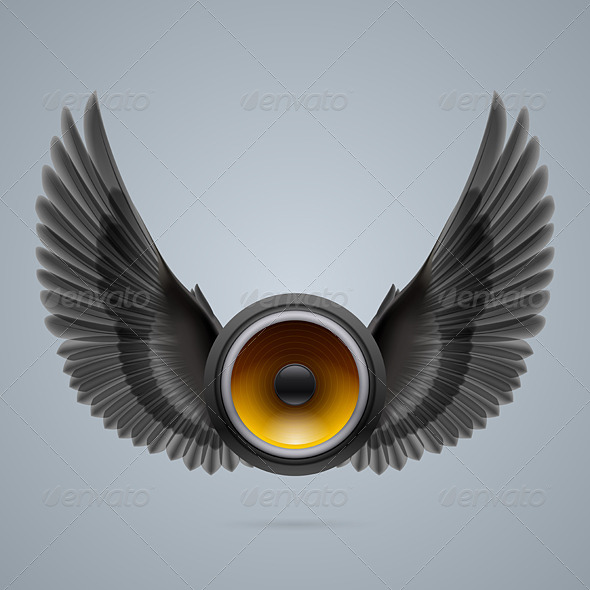 GraphicRiver Music Speaker with Two Wings 8056497