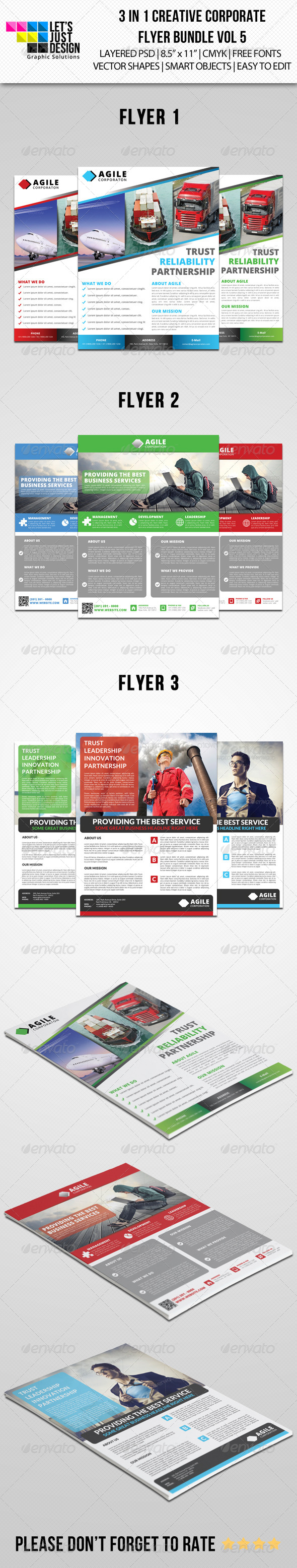 GraphicRiver Creative Corporate Flyer Pack Vol 5 8056621