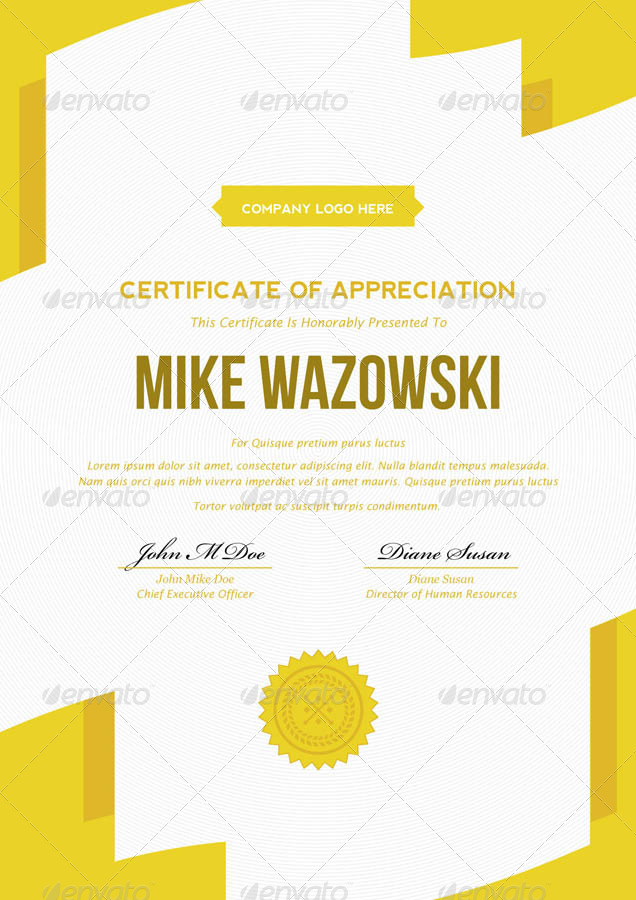 Modern Dynamic Diploma Award Certificate By Bnrcreativelab