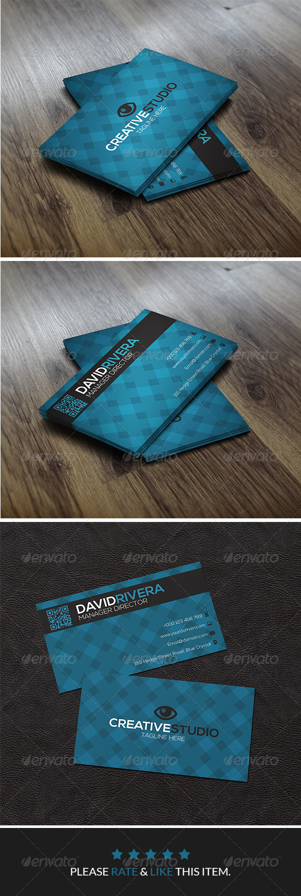 GraphicRiver Blue Corporate Business Card 8056723