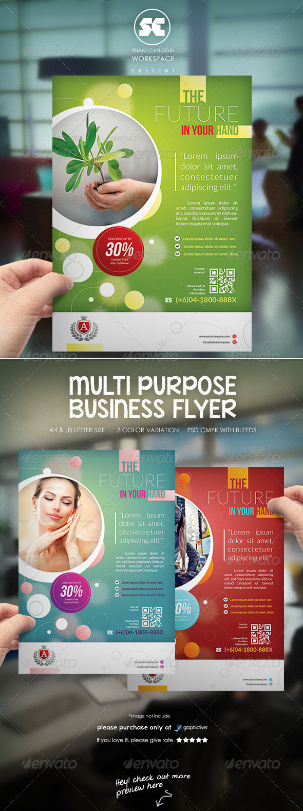 GraphicRiver Modern Business Flyer 8056768