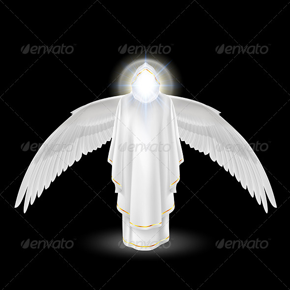 GraphicRiver White Angel on Black 8056770