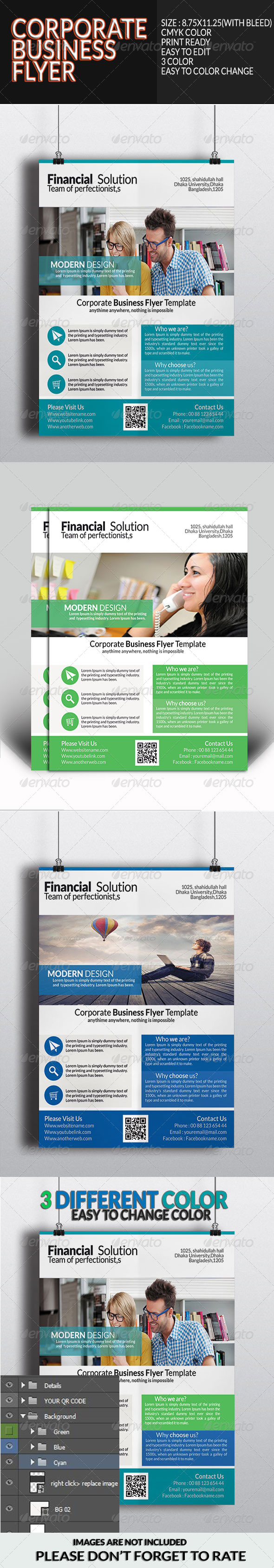 GraphicRiver Corporate Business Flyer Template 8056771