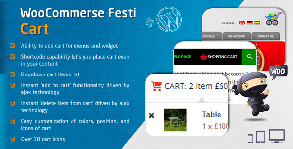 CodeCanyon Woocommerce Festi Cart 7992078