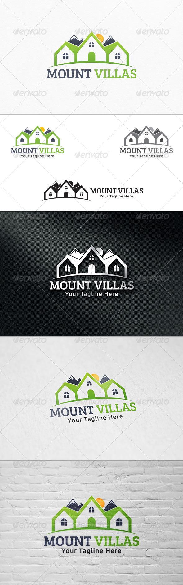 GraphicRiver Mount Villas Logo Template 8056800