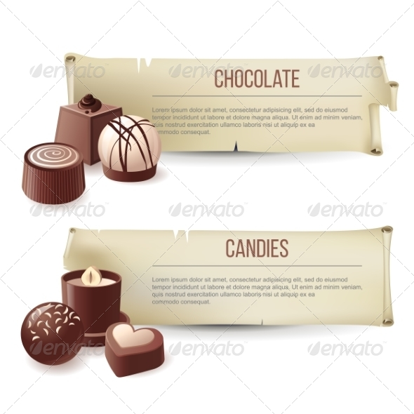 GraphicRiver Chocolate Candies Banners 8056855