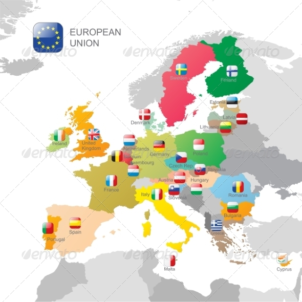 GraphicRiver The European Union Map 8056864