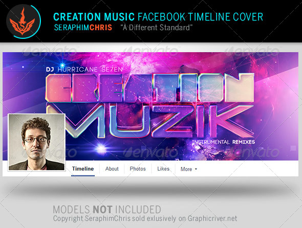 GraphicRiver Creation Music Facebook Timeline Cover Template 8056868