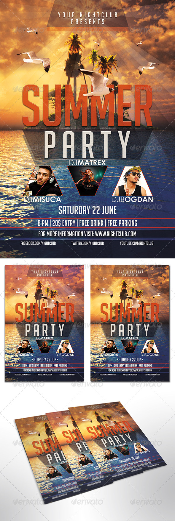 GraphicRiver Summer Party Flyer 8056975