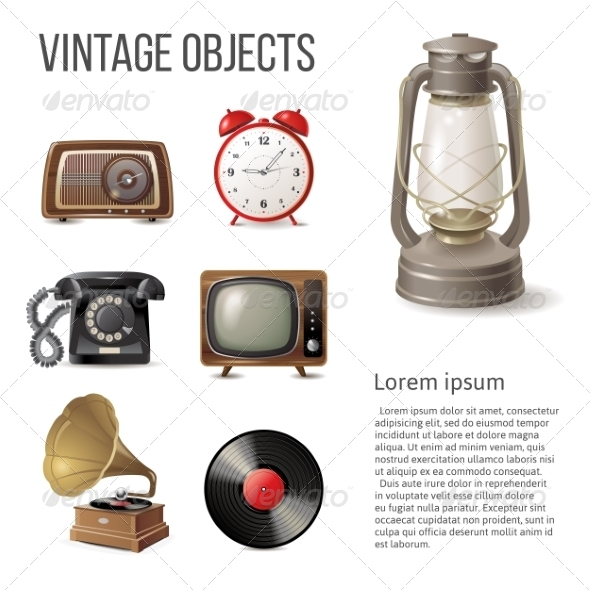GraphicRiver Vintage Objects 8056990