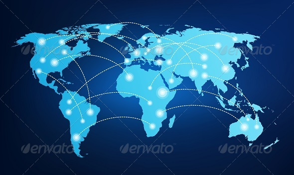 GraphicRiver World Map with Global Connections 8056992