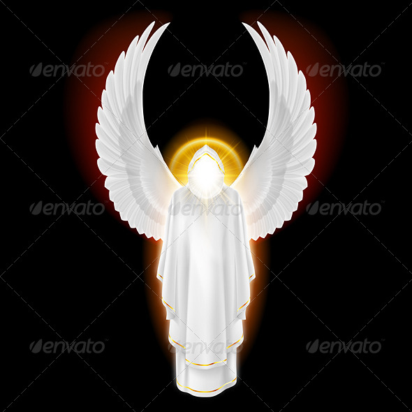 GraphicRiver White Angel on Black 8057039