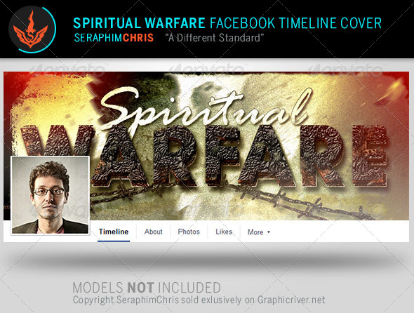 GraphicRiver Spiritual Warfare Facebook Timeline Cover Template 8057268