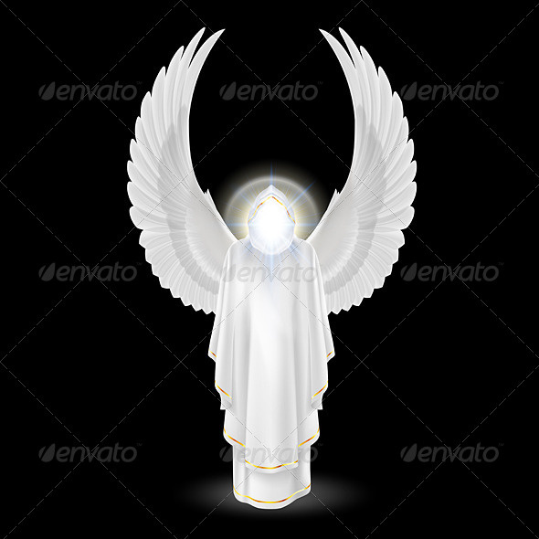 GraphicRiver White Angel on Black 8057483