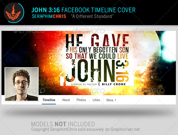 GraphicRiver John 3 16 Facebook Timeline Cover Template 8057602