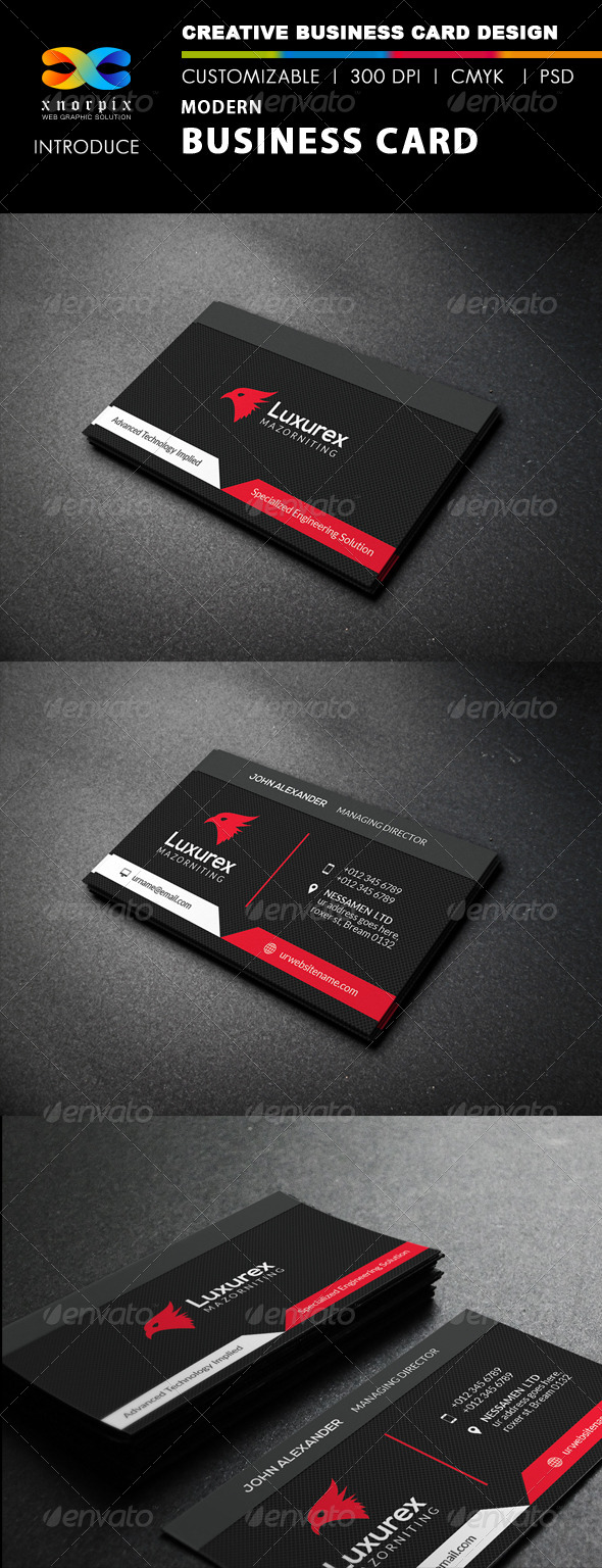 GraphicRiver Modern Business Card 8057638