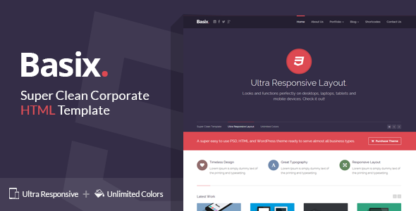 Basix - Super Clean Corporate HTML Template