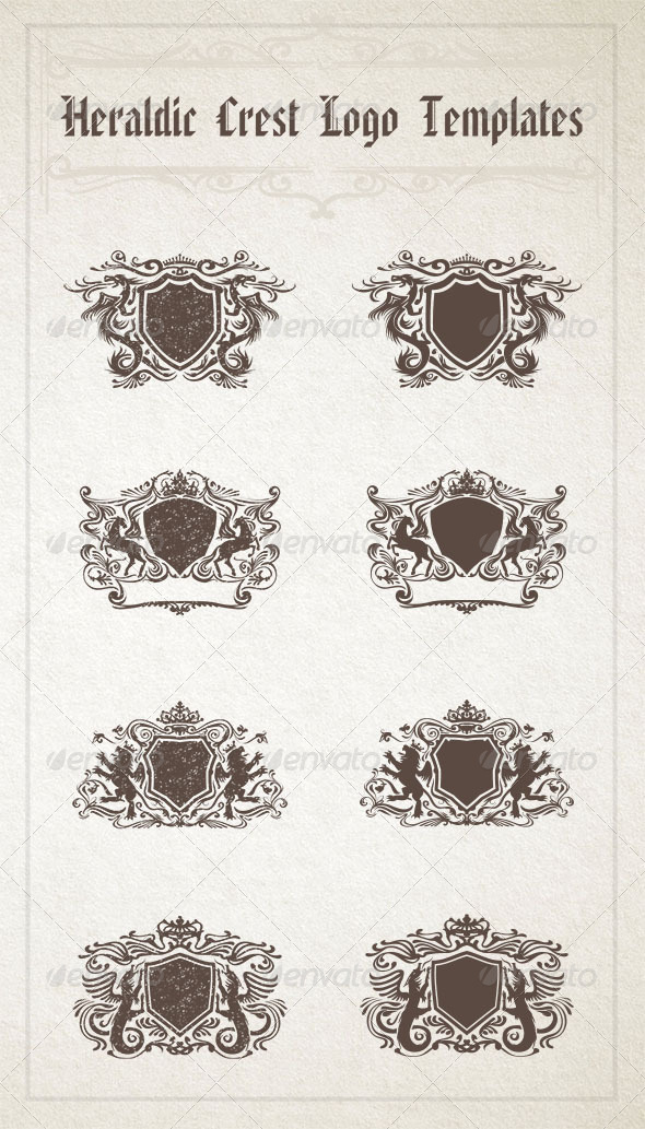 GraphicRiver Heraldic Crest Logo Templates 8057851
