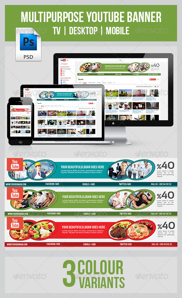 GraphicRiver Youtube Banner 8057954
