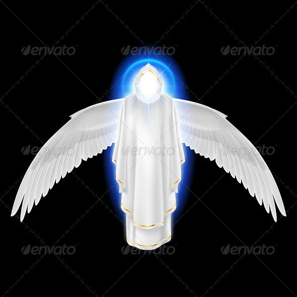 GraphicRiver White Angel on Black 8057987