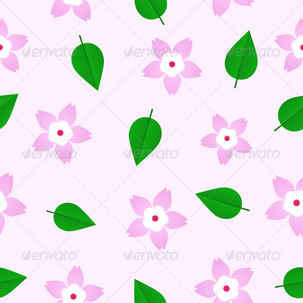 GraphicRiver Sakura Pattern 8057992