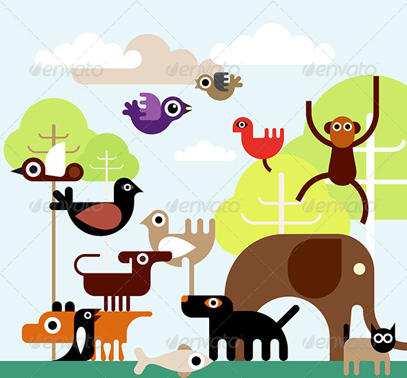 GraphicRiver Jungle Animals 8058025