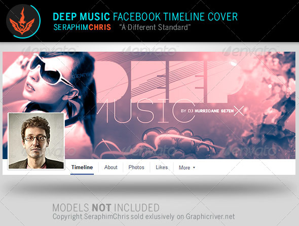 Deep Music Facebook Timeline Cover Template