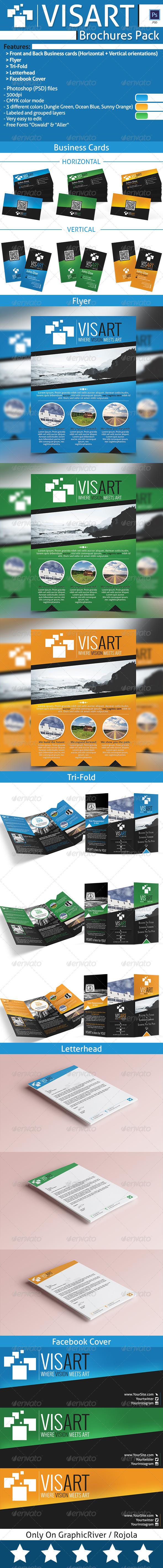GraphicRiver VISART Brochures Pack Templates 8002072
