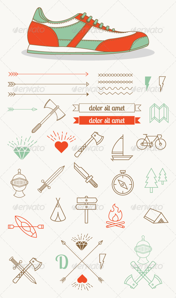 GraphicRiver Hipster Style Badges and Icons 8058154